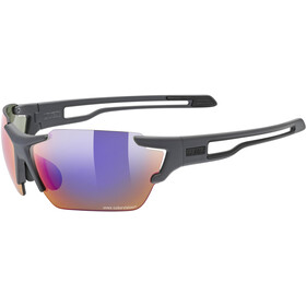 UVEX Sportstyle 803 Colorvision Glasses dark grey matt/litemirror green